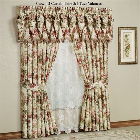 valances and curtains springfield floral tuck valances and curtains