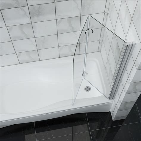 hinged bath shower screens 900x1400mm hinge 180 176 2 fold bath shower screen easy clean glass bath screen