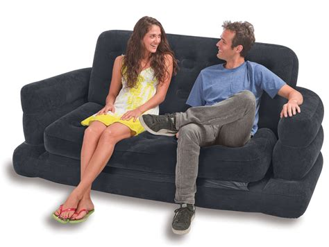 blow up pull out couch bargain catalogue return intex inflatable two person pull