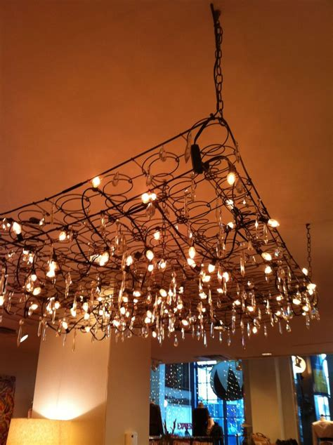 bed spring bed spring chandelier love it in a loft space home