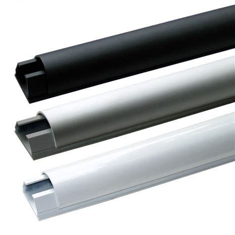 Kabels Wegwerken Plint by Cavus Halfronde Kabelgoot Medium Aluminium Kabelgoten