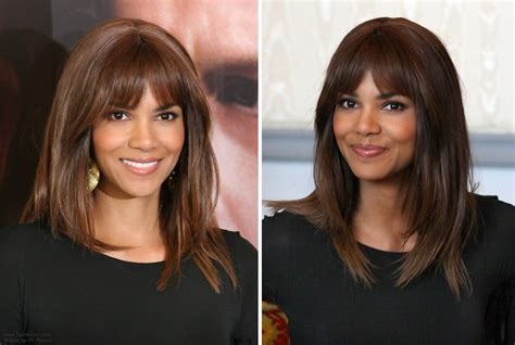 how does halle berry straighten her hair halle berry s long hair and her plans to shave her head bald