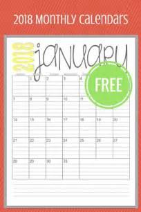 Free Printable 2018 Monthly Calendar 293 Best Free Printable 2018 Calendars 2017 Calendars