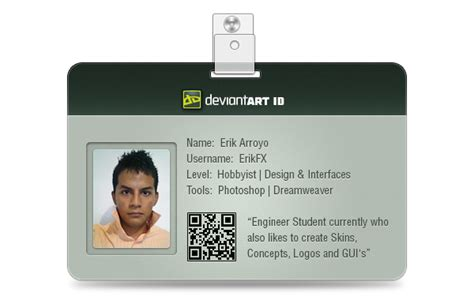 student id card template png id card by erikfx on deviantart