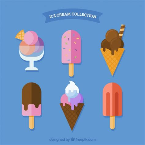 iced layout editor download pack ice cream in flat design vector free download