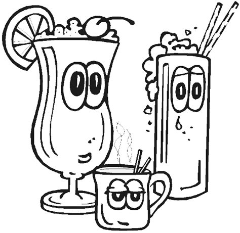 coloring pages of food and drinks drinks coloring pages crafts and worksheets for