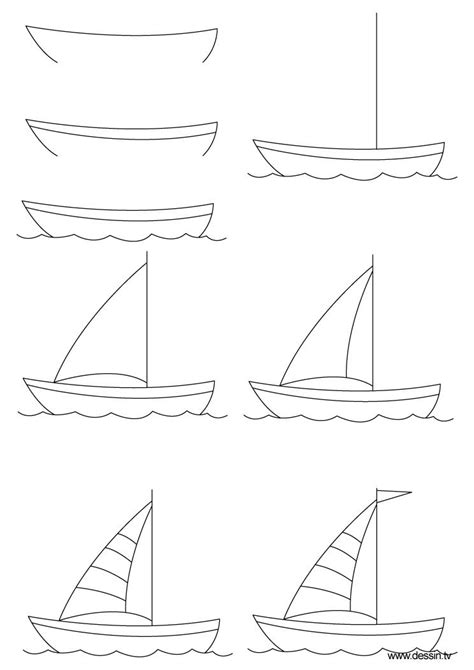 Drawing Lessons by How To Draw A Sailboat Step By Step Click To Enlarge