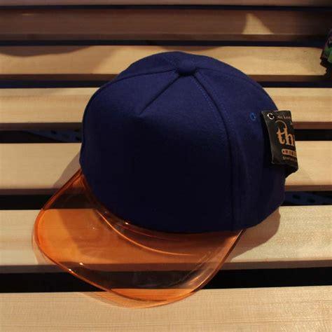 summer sun shading hat transparent plastic hat brim cap