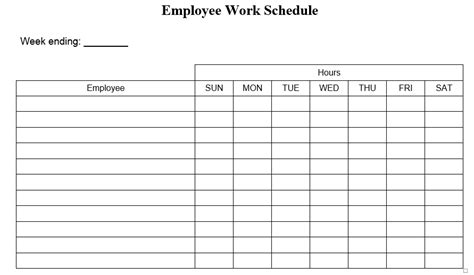 office schedule templates  ms word  ms excel