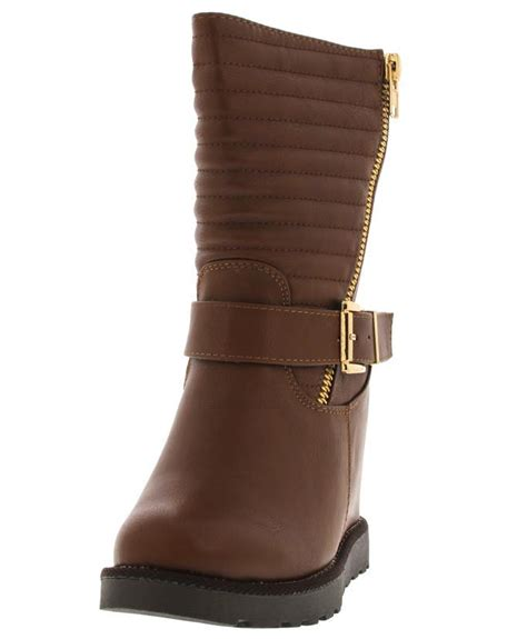 Boots Wedges 88 brooks04 cognac quilted wedge boots from 12 88 27 88