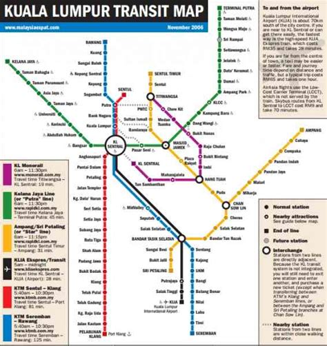 Lrt Monorail Ktm Map Image Gallery Kl Monorail Map