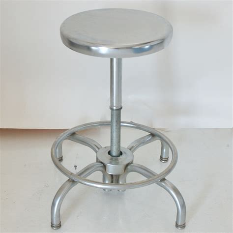 Adjustable Stool by 1 Industrial Age Tubular Adjustable Chrome Stool Ebay