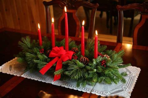 candele rosse 1001 idee per centrotavola natalizi creativi e originali