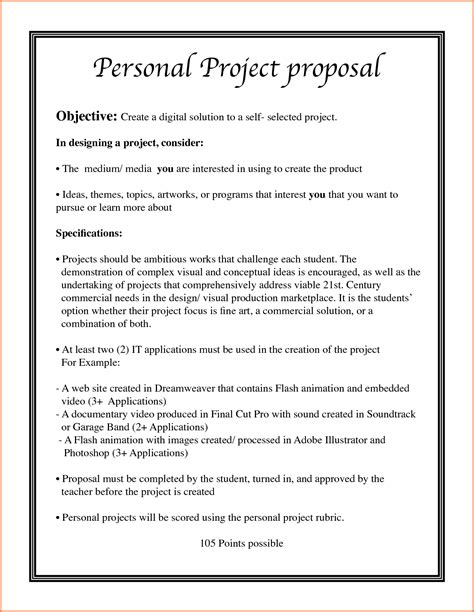 7 Project Proposal Ideas Project Proposal Project Idea Template
