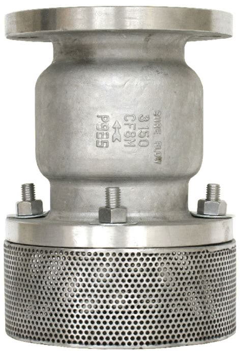 Foot Valve Stainles fv125 silent seat foot valve industrial strainers check