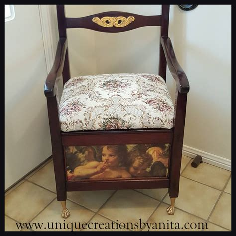 How To Use A Commode Chair by Antique Commode Chair Restored And Repurposed Into A