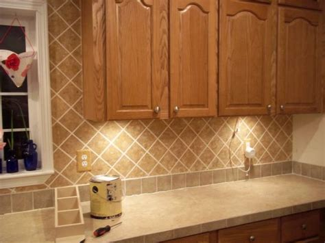 faux kitchen backsplash faux tile backsplash cottage
