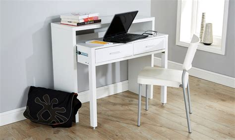 extendable desk 2 drawer extendable console desk groupon goods