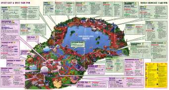 map of epcot florida epcot map outravelling maps guide