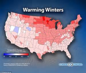 global warming map of the us maps reveal how global warming will affect winter