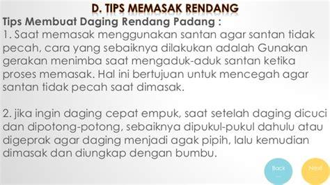 teks prosedur membuat nasi presentasi b indo teks prosedur kel rendang