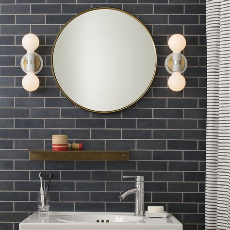 schoolhouse bathroom light brass shelf and wall lights from school house electric