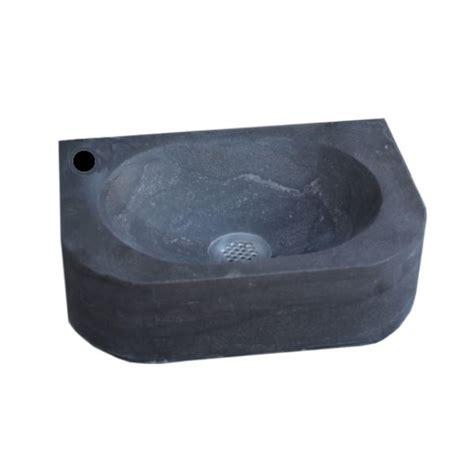 Toilet Fontein Links by Fontein Sanilux New York Hardsteen 35x24x10cm Rechthoek 1
