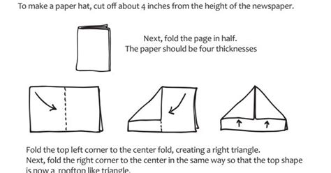 How To Fold A S Hat Out Of Paper - how to make a paper hat out of newspaper by paula beardell