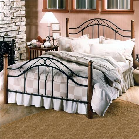 metal poster bed hillsdale furniture winsloh metal poster bed in black