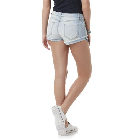light wash distressed denim bongo junior s distressed denim shorts light wash