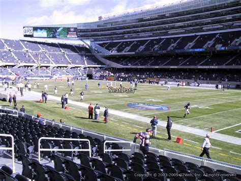 section 105 soldier field soldier field section 130 chicago bears rateyourseats com