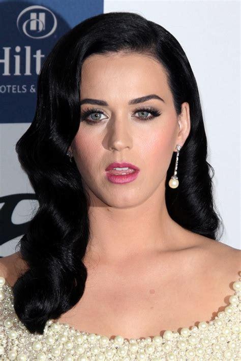 Black Hairstyles Hair Katy by Katy Perry Wavy Black Faux Sidecut Inward Curl Side Part