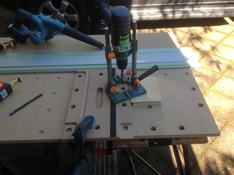 Mft Drilling Template Using The Mft Top As A Router Template