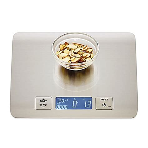 bed bath and beyond kitchen scale sabatier 174 stainless steel electronic kitchen scale bed