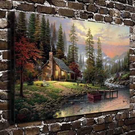 1449482910 thomas kinkade peaceful retreat with compra thomas kinkade pinturas online al por mayor de