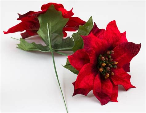 image gallery silk poinsettias