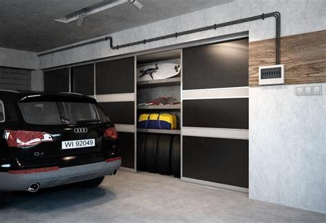 Garage Storage With Sliding Doors Sliding Doors Garage Storage Space Solutions