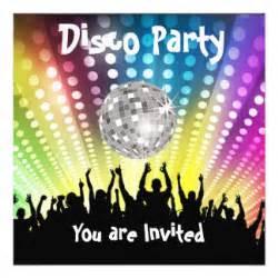 disco invitations announcements zazzle