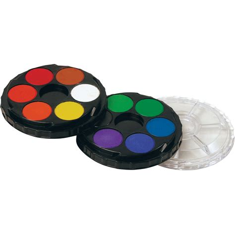 compact watercolor paint tray 12 color set advantage