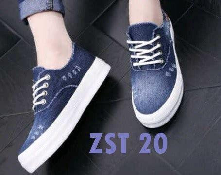 Sepatu Casual Wanita Biru Muda sepatu kets wanita sneakers casual trendy murah