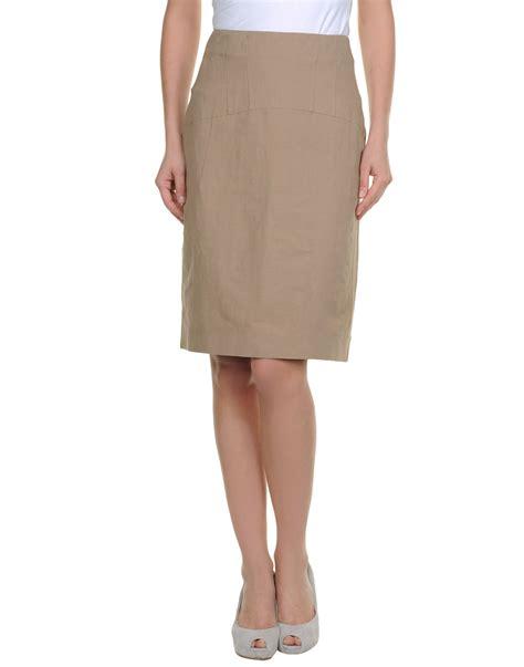 marni knee length skirts in khaki lyst