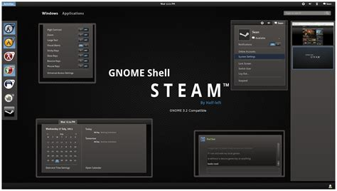 themes gnome 3 gnome shell awesome gnome 3 theme presentations dreambox