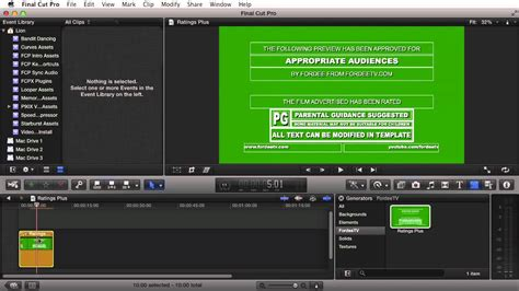 fcpx trailer templates free fcpx generator ratings plus for cut pro x
