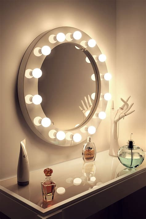 hollywood bathroom mirror high gloss white round hollywood makeup mirror with