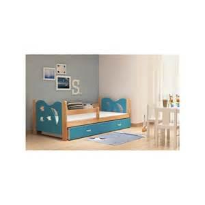 lit enfant en bois de pin massif lune avec tiroir et