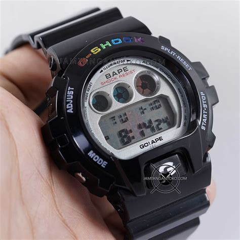 G Shock Black Ori gambar g shock ori bm dw 6900 bape limited edition black