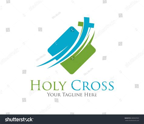cross vector logo design template template stock vector