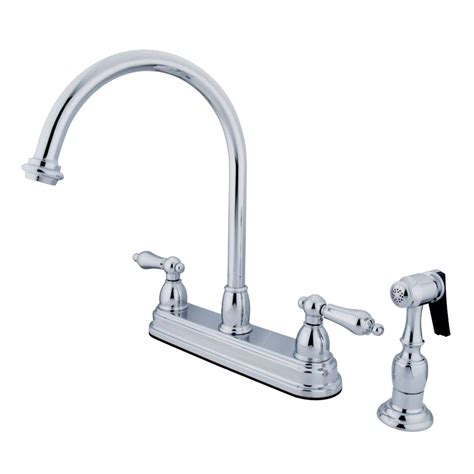 kingston kitchen faucets kingston brass kb3751albs restoration deck mount 8