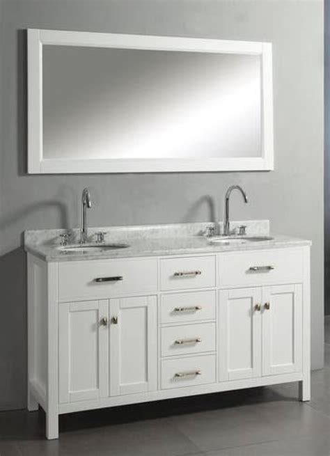 white bathroom vanity with carrera marble top 60 inch double sink vanity with white finish and italian