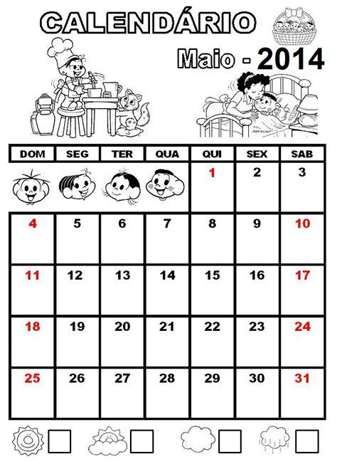 Calendã Do Mãªs De Abril De 2016 Alfabetiza 199 195 O Calend 225 De 2014 Turma Da M 244 Nica